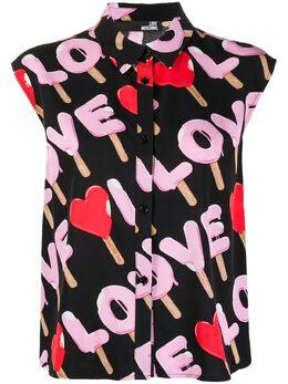 Love Moschino рубашка Ice Cream с логотипом WCD1700T9964