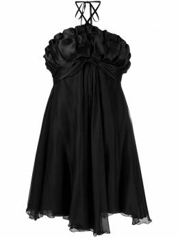 A.N.G.E.L.O. Vintage Cult платье 1990-х годов с вырезом халтер и оборками AVCU280