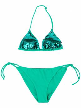 Mc2 Saint Barth Kids TEEN Holly sequin-embellished triangle bikini HOLLYT