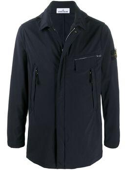 Stone Island куртка с капюшоном и логотипом MO721540727