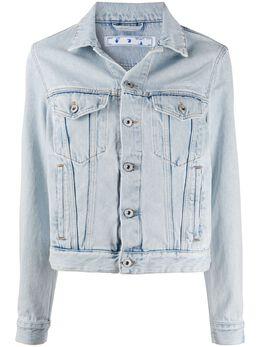 Off-White короткая джинсовая куртка OWYE012S20DEN0024500