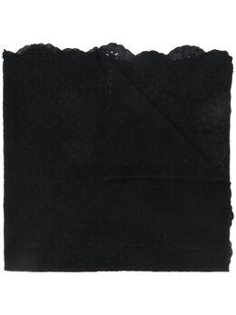 Faliero Sarti шарф с вышивкой и фестонами E201033ESILDA