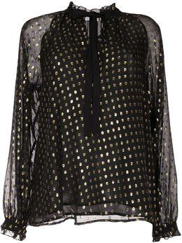 A.L.C. блузка Winona из филькупе и шифона 5TOPS00707