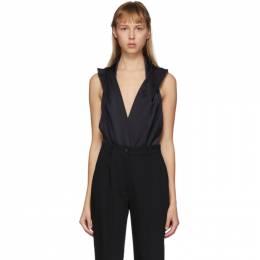 Balmain Black Hooded Bodysuit TF00960X372
