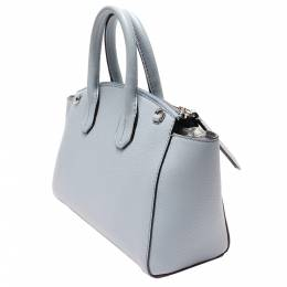 Bally Blue Leather Top Handle Bag