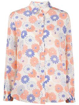 Kenzo рубашка с длинными рукавами и цветочным принтом FA52CH019529
