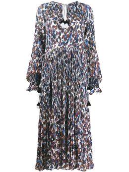 10 Crosby Derek Lam платье макси Nemea с плиссировкой и цветочным принтом TR02506PG