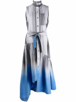 10 Crosby Derek Lam платье макси Nerioa в полоску с эффектом деграде TR02510PS