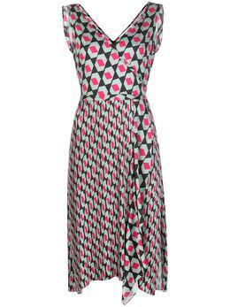 Dvf Diane Von Furstenberg платье с запахом и геометричным принтом 14455DVF