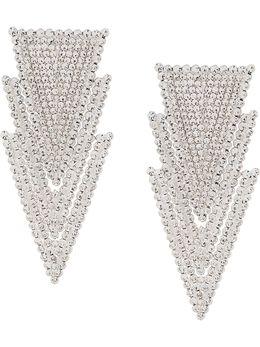 Alessandra Rich серьги-подвески с кристаллами FABA2044J004