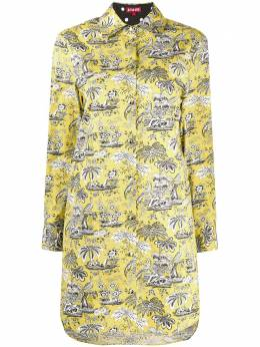 Staud платье-рубашка длины мини с вышивкой 1487227