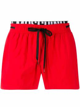 Moschino elastic band swim shorts A61485439