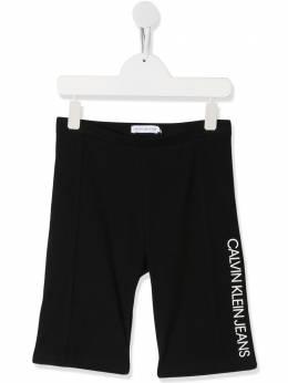 Calvin Klein Kids TEEN logo printed shorts IG0IG00536