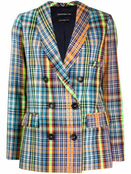 Department 5 double breasted checked blazer D20G88F2025
