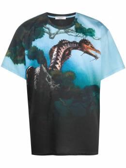 Valentino футболка с принтом Dragons Garden TV0MG05Y67T