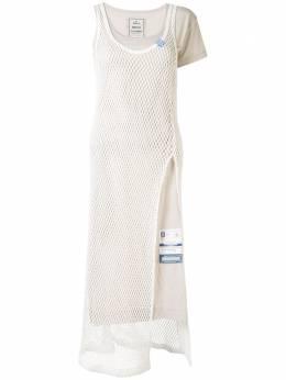 Maison Mihara Yasuhiro платье-трапеция асимметричного кроя B04DR761