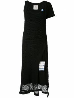 Maison Mihara Yasuhiro платье миди асимметричного кроя B04DR761