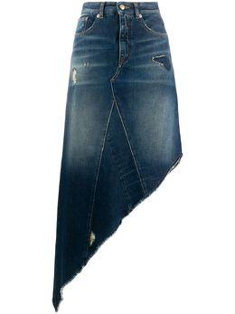 Mm6 Maison Margiela джинсовая юбка асимметричного кроя S62MA0042S30460