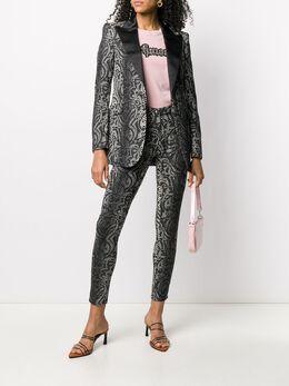 John Richmond snakeskin print tuxedo blazer RWP20156GC
