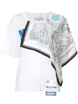 Maison Mihara Yasuhiro футболка с декоративным платком B04TS781