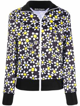 Palm Angels PALM DAISIES TRACK JACKET ANTHRACITE WH PWBD019S20FAB0031101