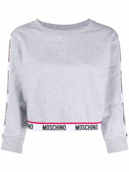 Moschino cropped logo tape sweater A17059012