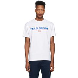Polo Ralph Lauren White Polo Sport T-Shirt 710750444002