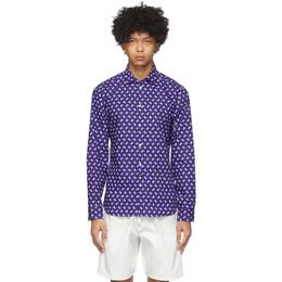 Kenzo Blue Ikat Slim Fit Shirt FA55CH2001KC