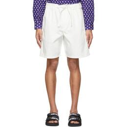 Kenzo Off-White Gabardine Belted Shorts FA55SH6921RJ