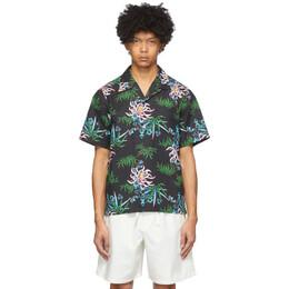 Kenzo Black Sea Lily Shirt FA55CH5291LI
