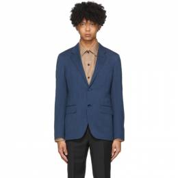 Ermenegildo Zegna Blue Wool and Linen Blazer 7395091512K0