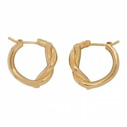 Bottega Veneta Gold and Silver Bi-Color Knot Earrings 617442 VAHU0