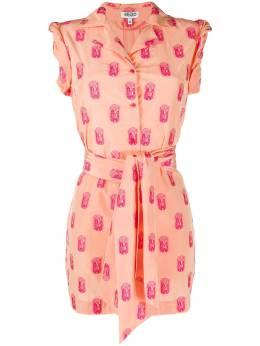 Kenzo платье-рубашка с геометричной вышивкой FA52CO0445J1