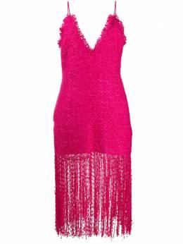MSGM твидовое платье миди без рукавов 2842MDA122X207475