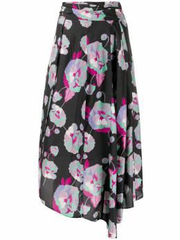 Isabel Marant юбка с запахом и цветочным принтом 20EBL099320E001B