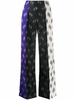 Kenzo брюки широкого кроя с принтом икат FA52PA00954E