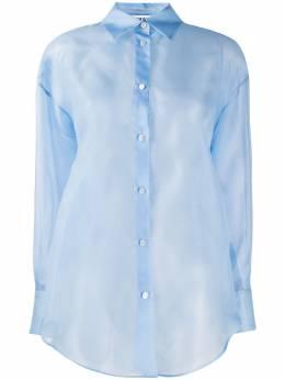 MSGM прозрачная рубашка на пуговицах 2842MDE116207303