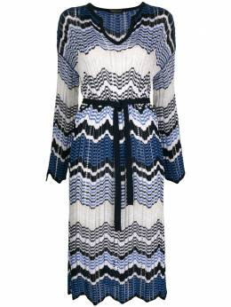 Roberto Collina zig-zag print knit dress C19035