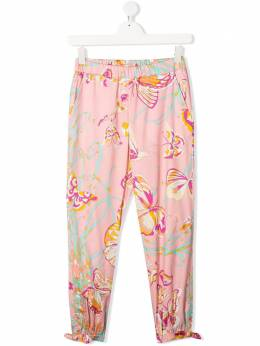 Emilio Pucci Junior TEEN butterfly-print tapered trousers 9M6090MC900