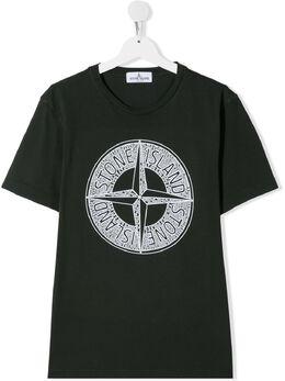 Stone Island Junior compass logo T-shirt MO721621059