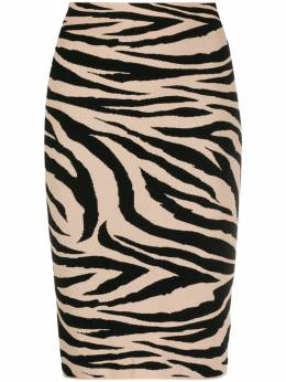 Laneus юбка с тигровым принтом GND1411