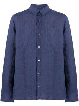 A.P.C. однотонная рубашка на пуговицах LIADWH12426