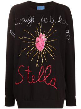 Stella Jean heart print jumper FE142295