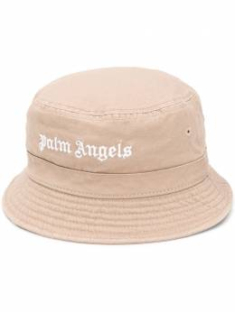 Palm Angels CLASSIC LOGO BUCKET HAT BEIGE WHITE PWLB002S20FAB0016101