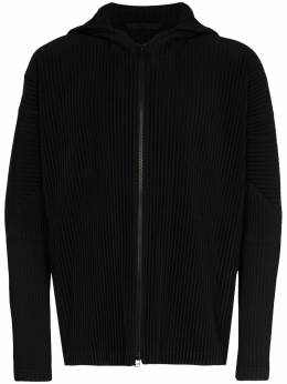 Homme Plisse Issey Miyake classic zipped hooded sweatshirt HP06JL114
