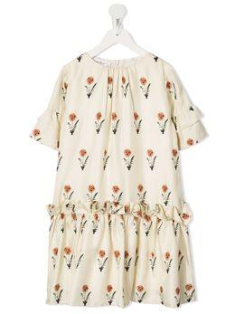 Oscar De La Renta Kids платье с цветочным принтом 20SGN613PSECM