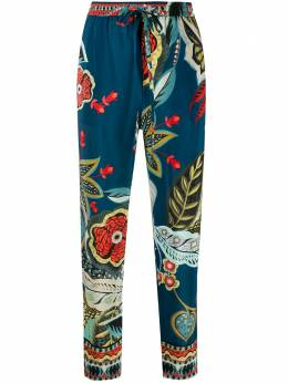 Red Valentino graphic print cropped trousers TR0RBA65505