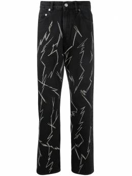 Our Legacy zig-zag lightening jeans M2205SZ