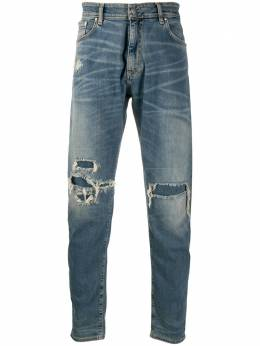 Represent low-rise distressed-effect jeans M07033