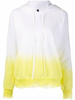 Unravel Project TATOO LOGO TIE DYE HOODIE WHITE LIME UWBB052S20FLE0010115